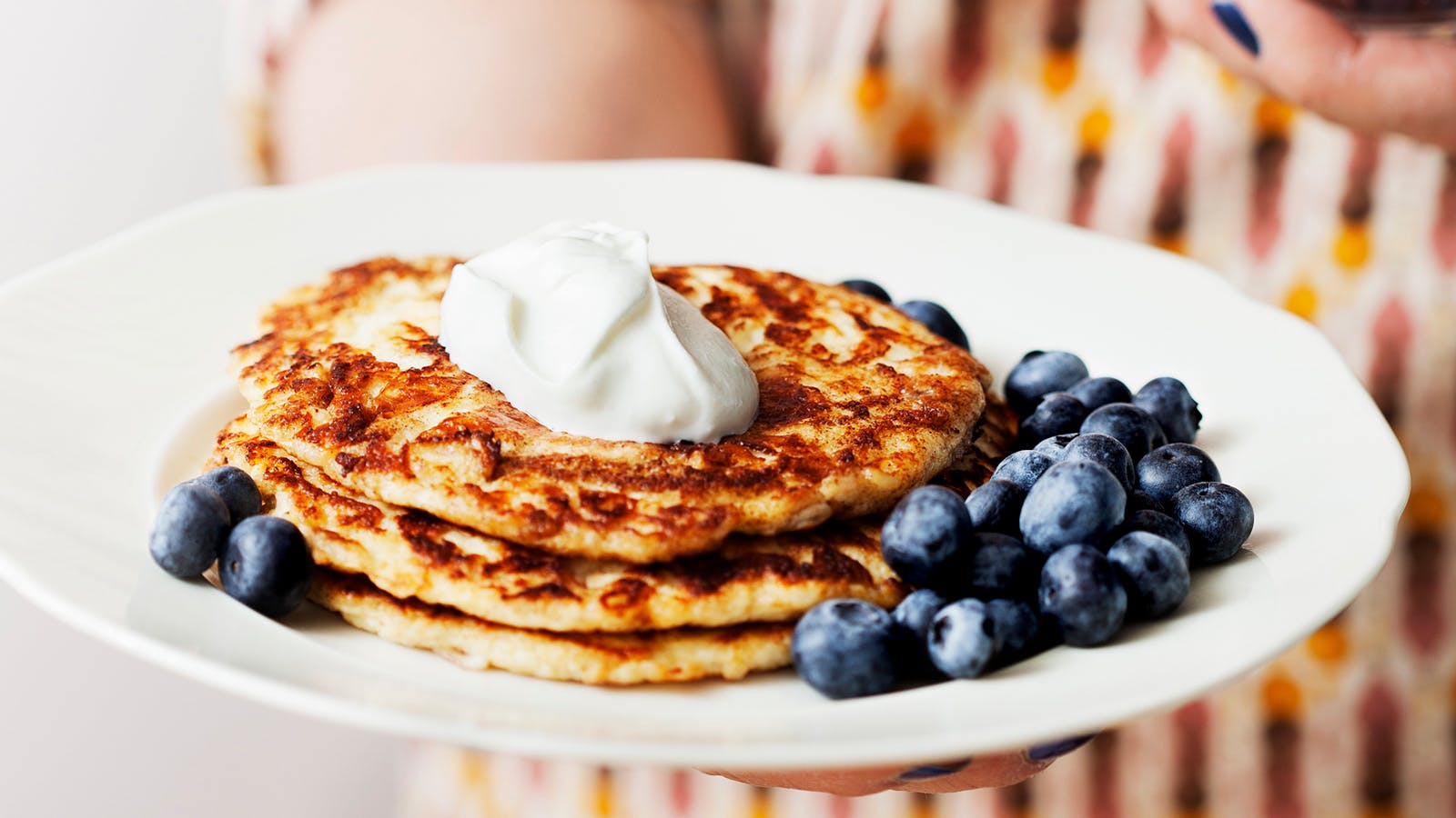 Keto Pancakes with Berries and Cream