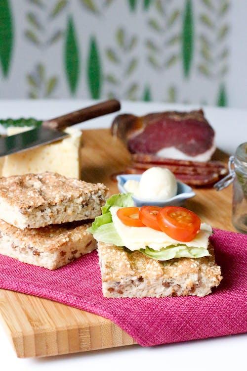 快速低碳水化合物的面包