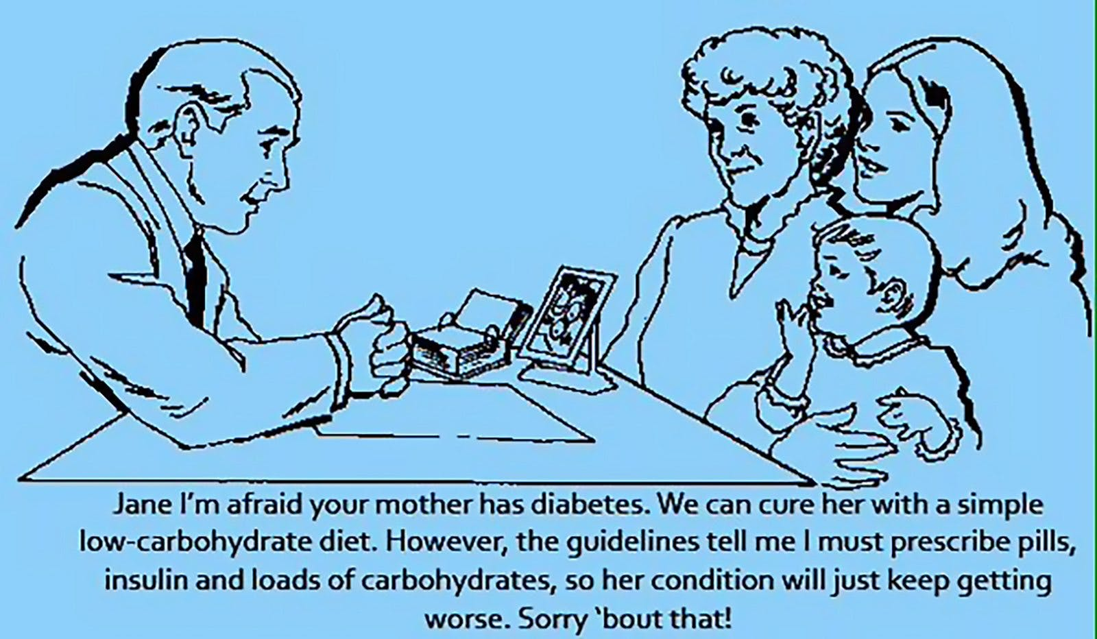 """I'm Afraid Your Mother Has Diabetes"""