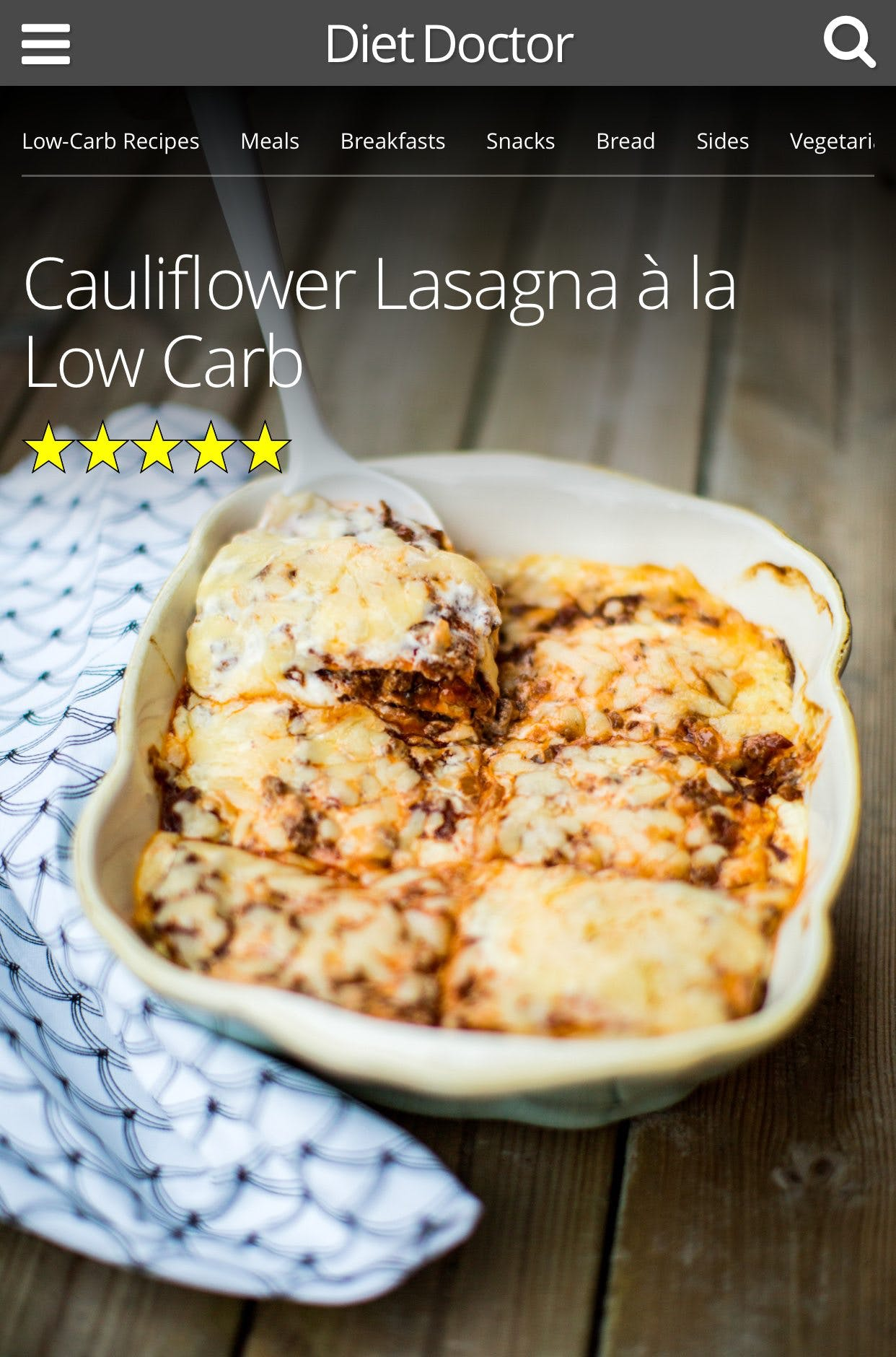 Rate Your Favorite Low-Carb Recipes