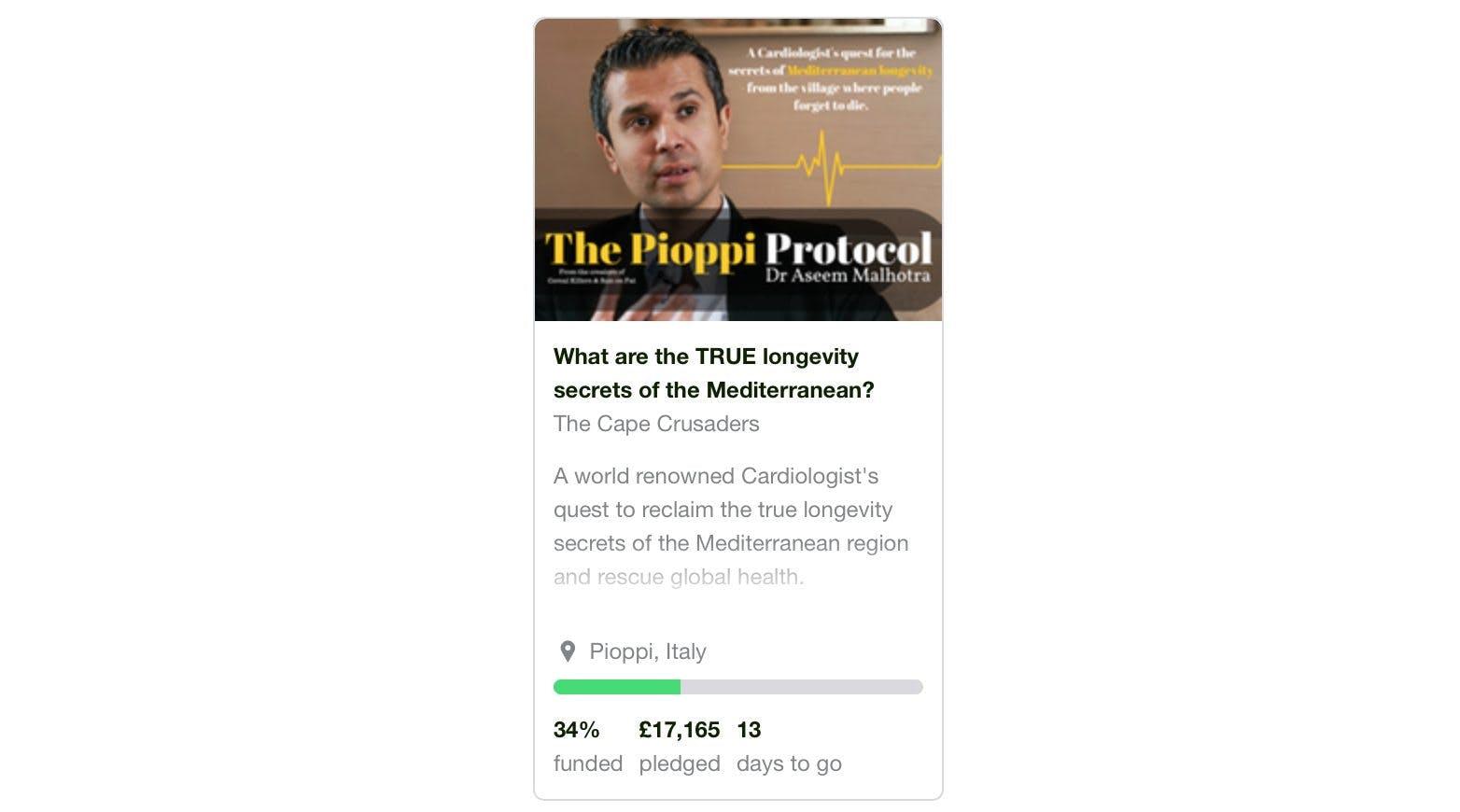 The Pioppi Kickstarter Passes 33%