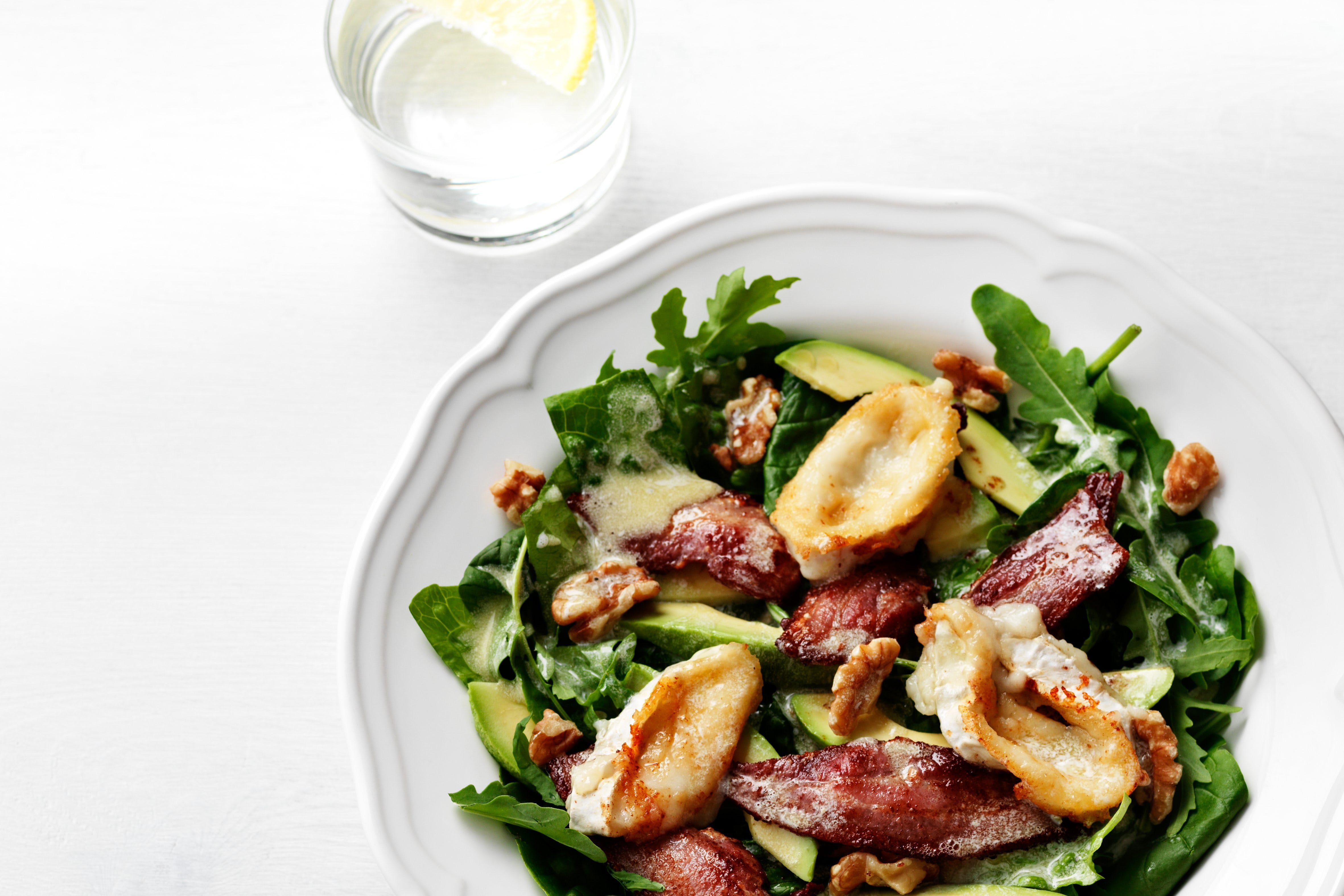 Avocado, Bacon and Goat-Cheese Salad