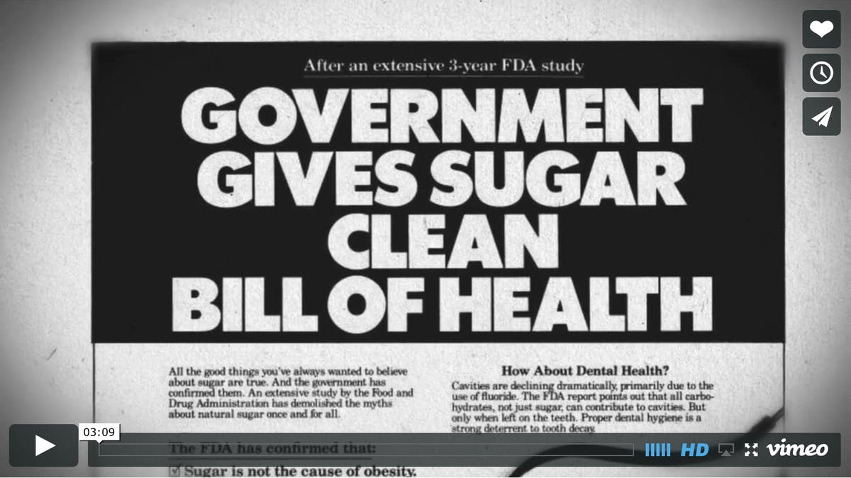 How the sugar industry fooled us 40 years ago
