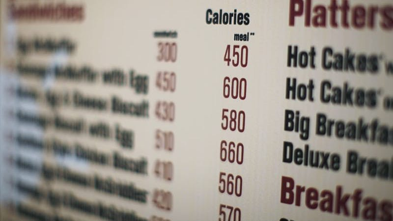 Calorie counts on menus a failure – here's why