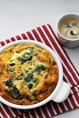 Keto frittata with fresh spinach<br />(Breakfast)
