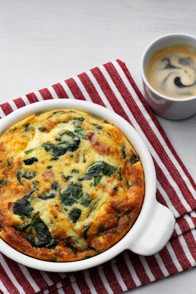 Keto frittata with fresh spinach<br />(Breakfast)