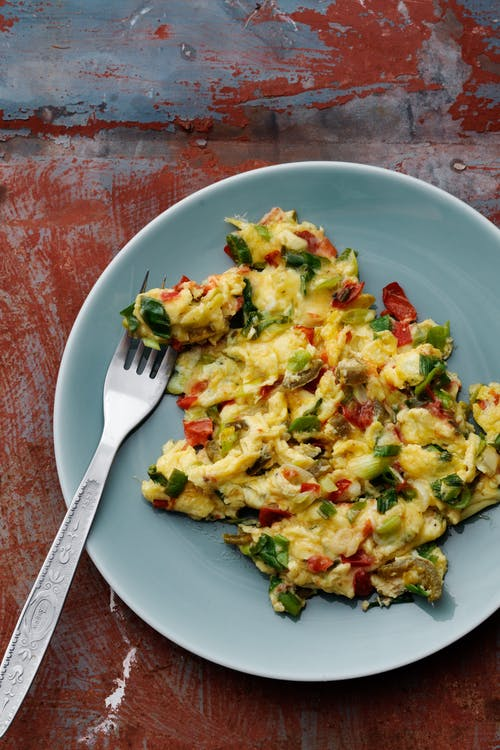 Keto Mexican scrambled eggs