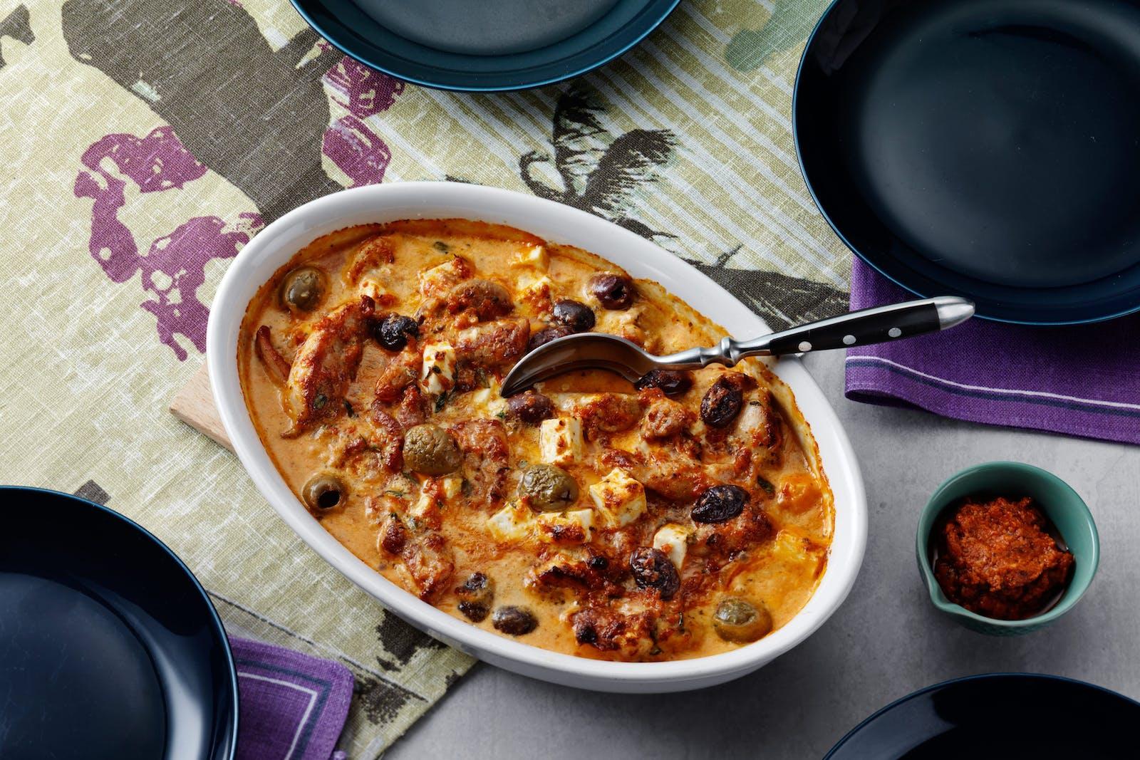 Keto Pesto Chicken Casserole With Feta  Olives  Recipe -2948