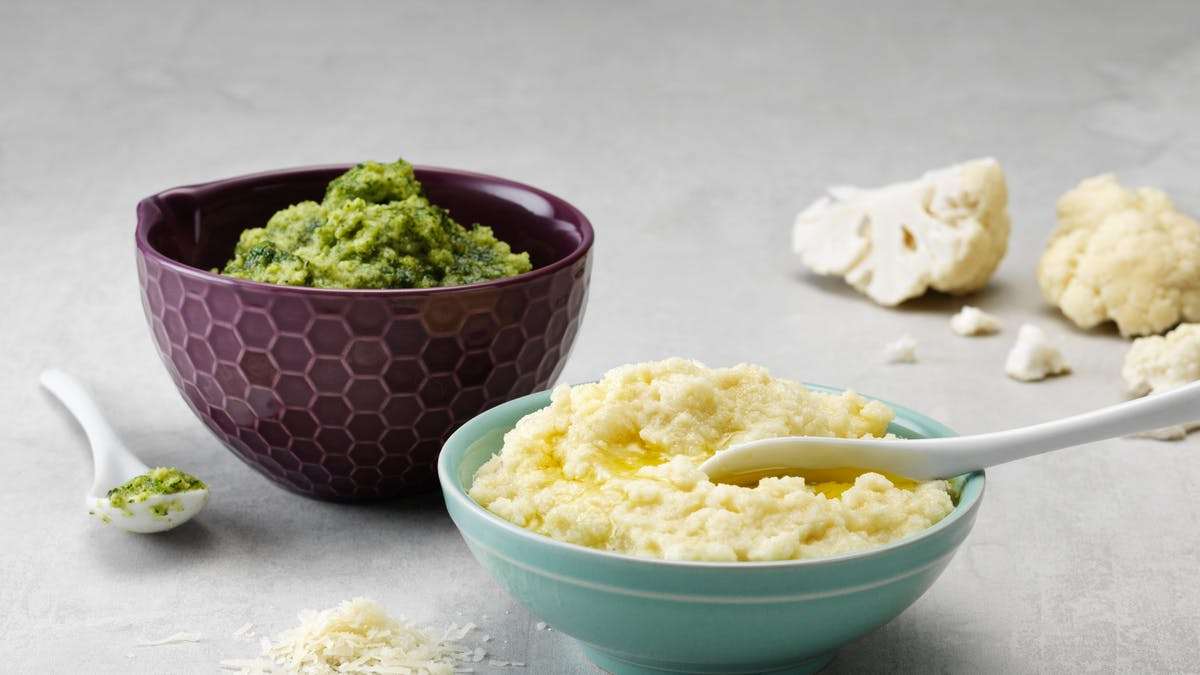 Low-carb cauliflower mash