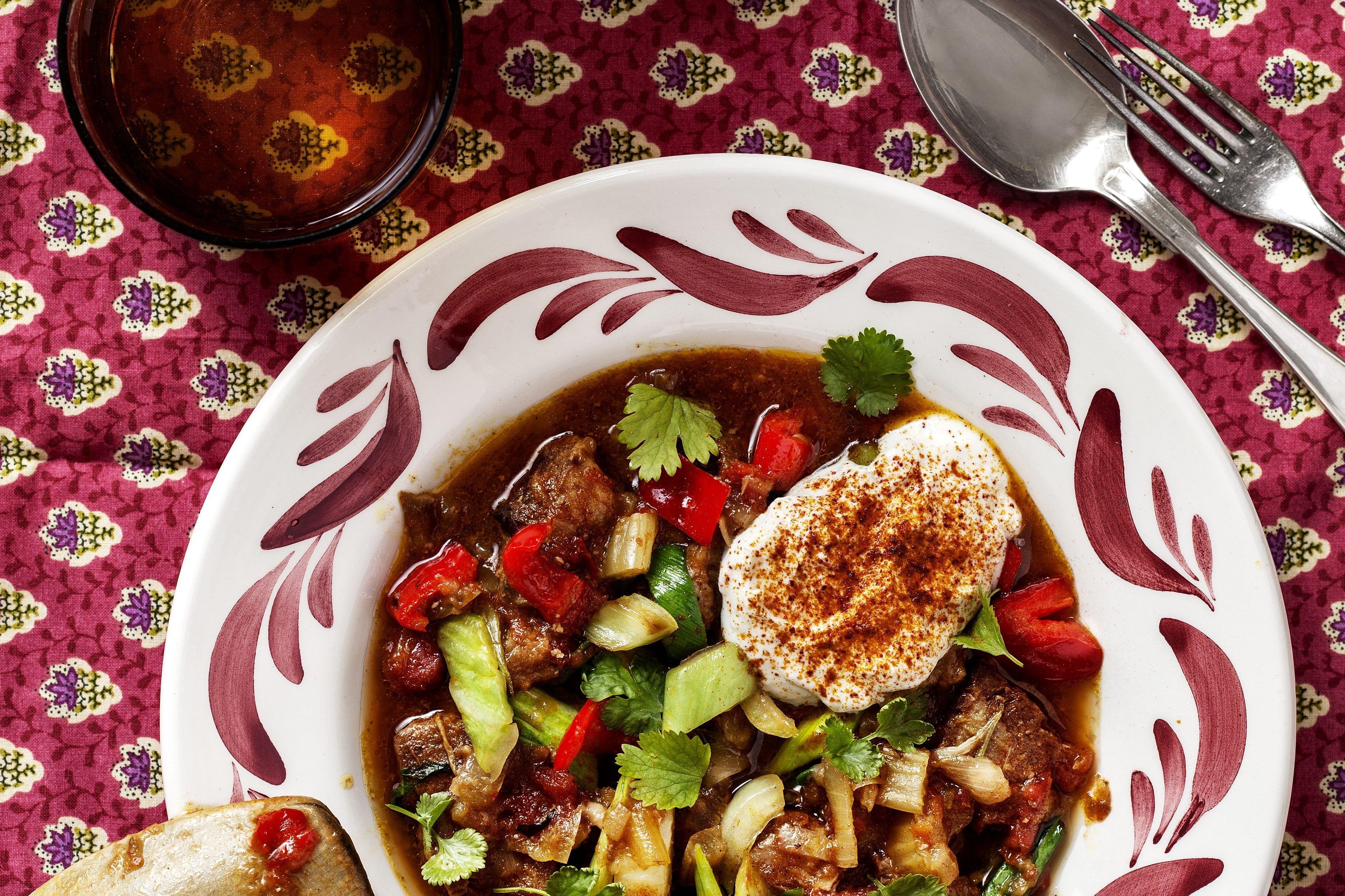 Low-carb Indian lamb stew