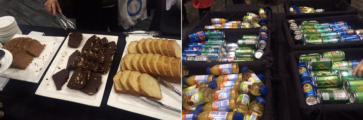 Refreshments at the International Diabetes Federation Congress