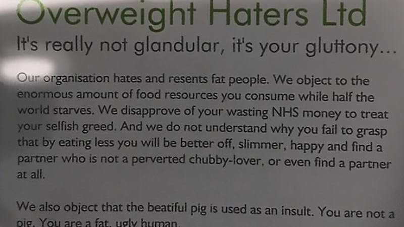 Overweight Haters Ltd: Prejudice at its worst