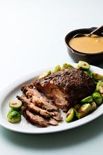 Slow-cooked keto pork roast with creamy gravy