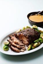 Slow-cooked keto pork roast with creamy gravy
