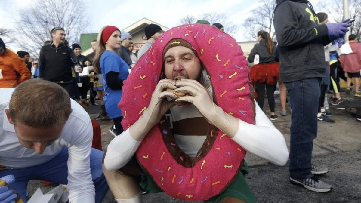 Krispy Kreme Challenge: 5 Miles, 12 Doughnuts, Keep It Down