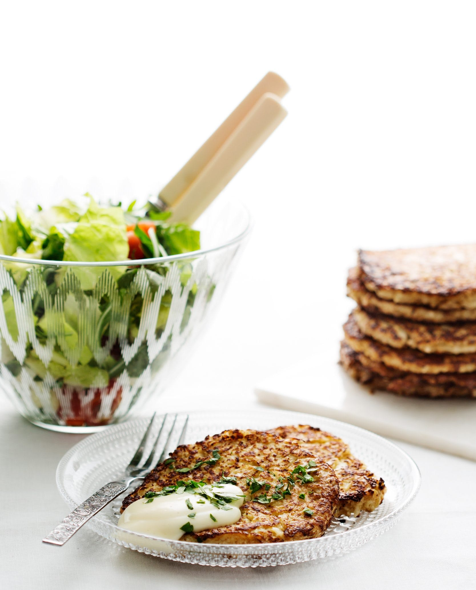 Low-carb cauliflower hash browns<br />(Breakfast)
