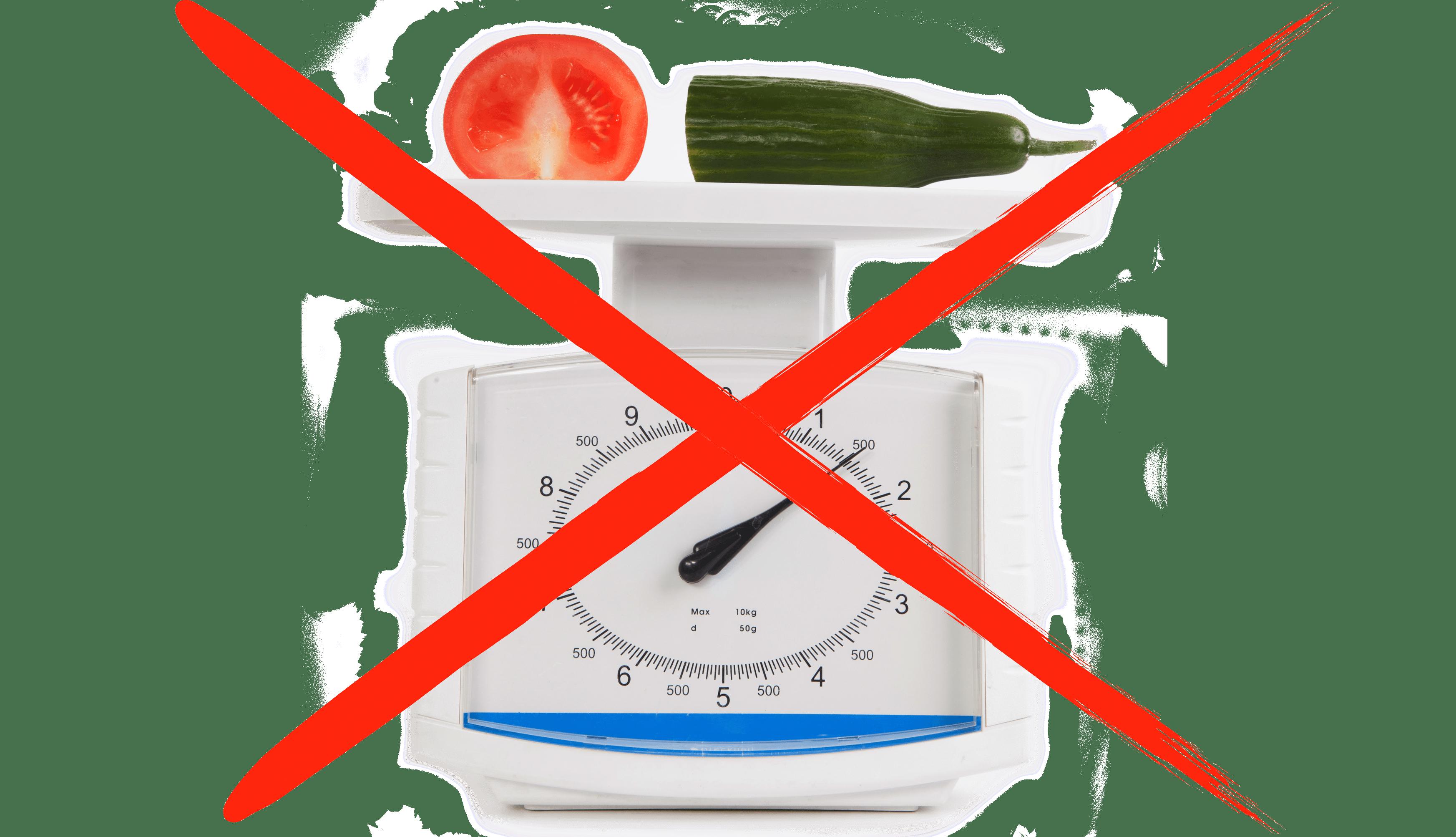 No calorie restrictions