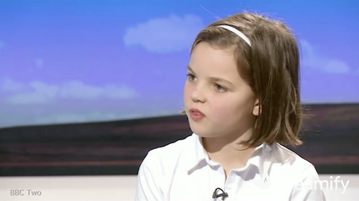 """10-year-old gives mindblowing reply to talk show host"""