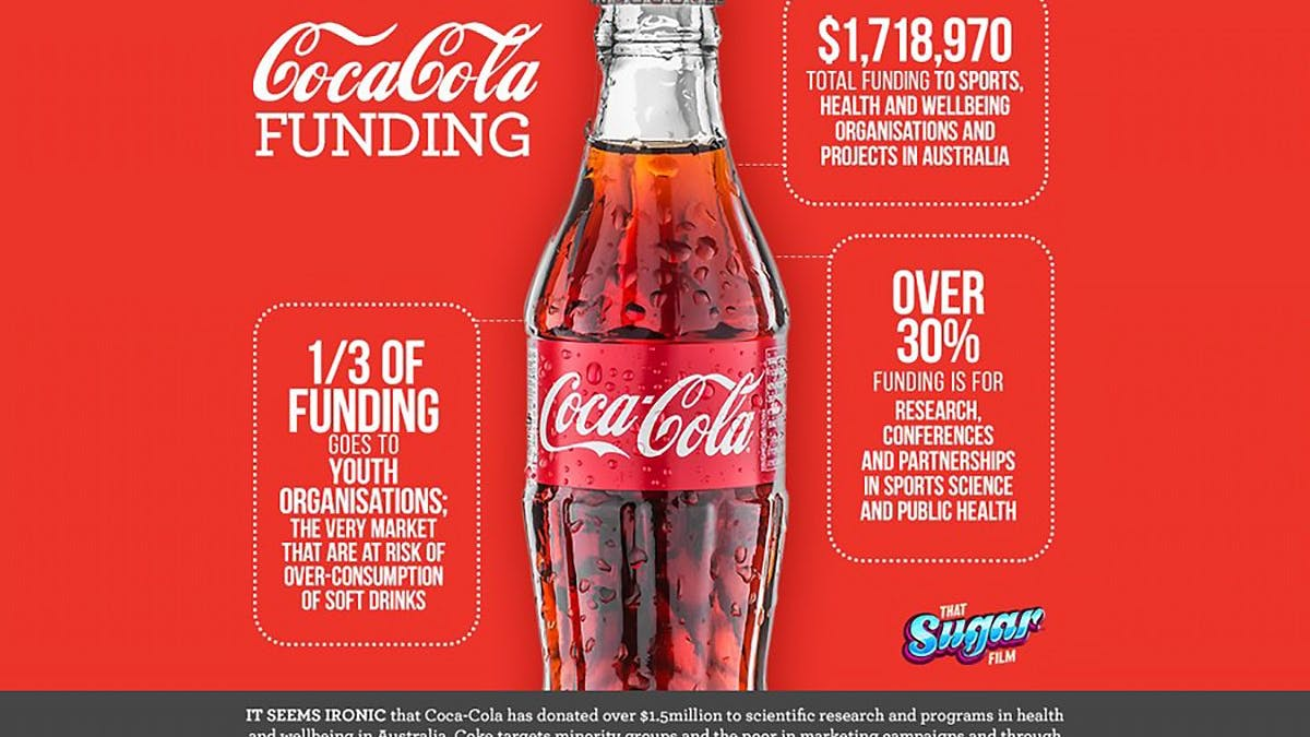Coca-Cola has spent $1.7 million funding Australian health groups over five years