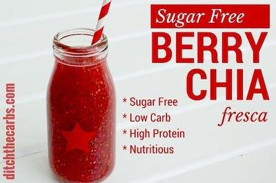Sugar Free Berry Chia Fresca