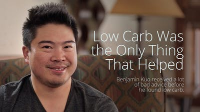 """Low carb was the only thing that helped"""