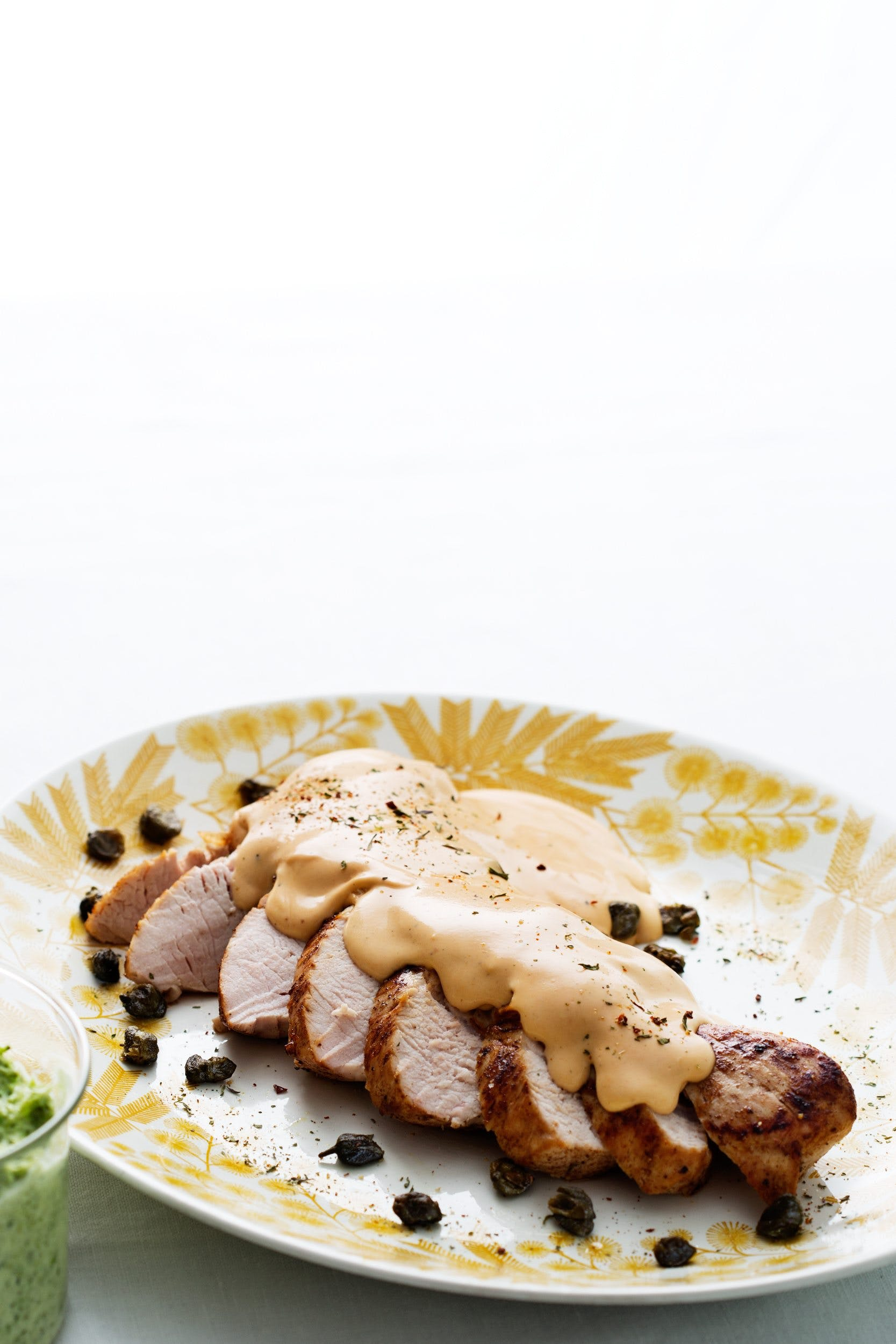 Keto turkey with cream-cheese sauce