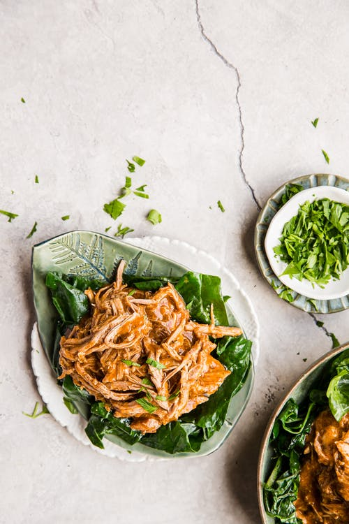 Keto pulled pork Afelia