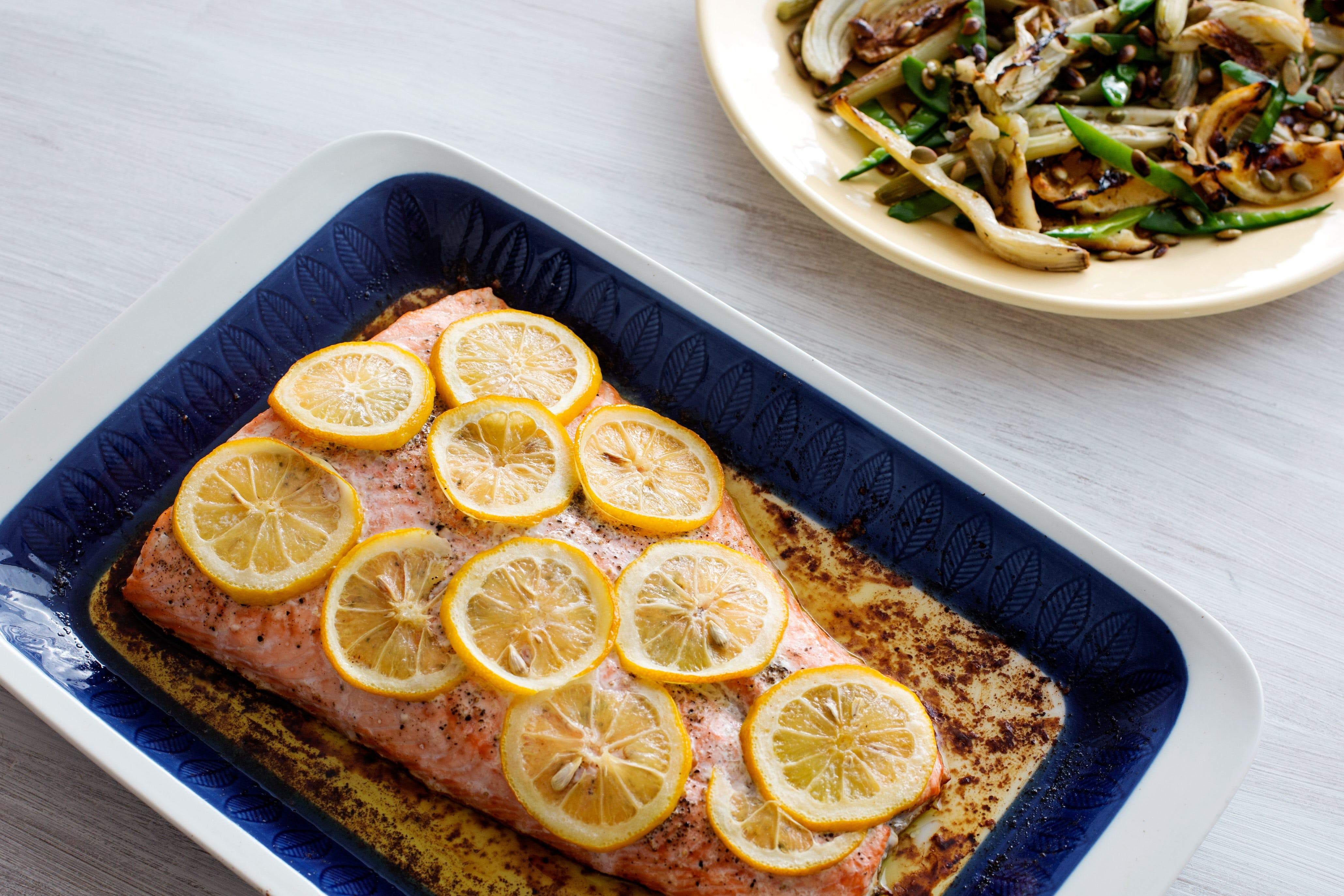 Baked Salmon with Lemon and Butter