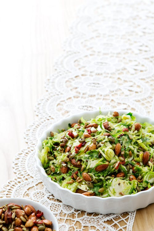 Crispy Brussels sprout salad with lemon