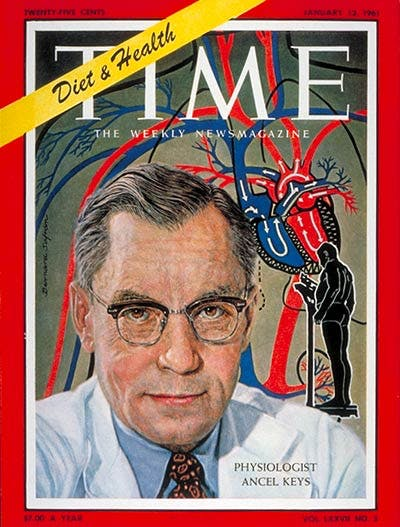 Ancel Keys on the Cover of TIME, January 13, 1961