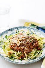 Low-carb Zoodles Bolognese