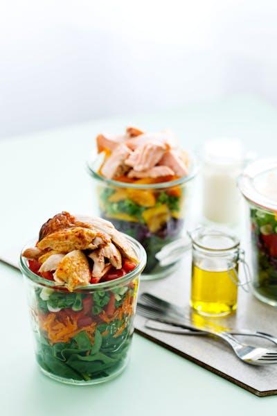 Salad in a jar<br />(Lunch)
