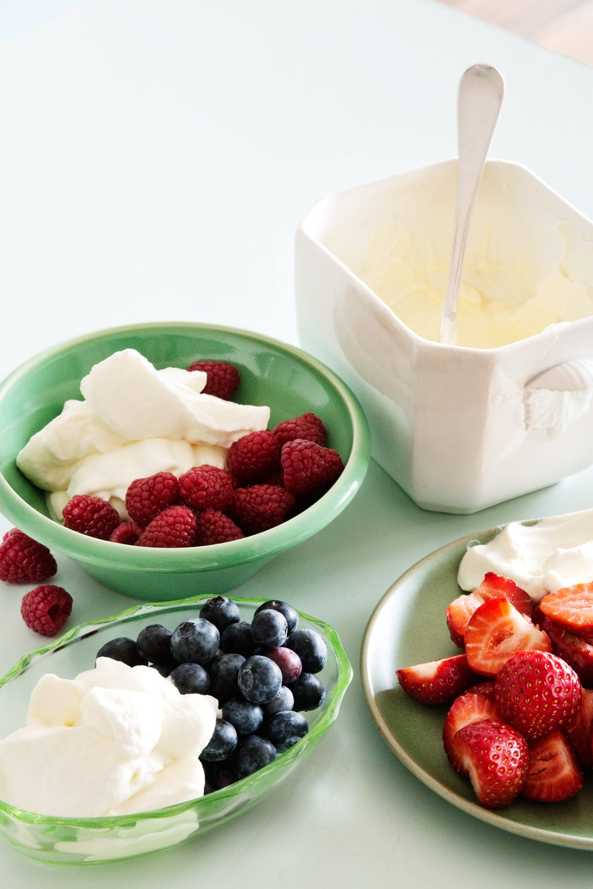 Berries and whipped cream
