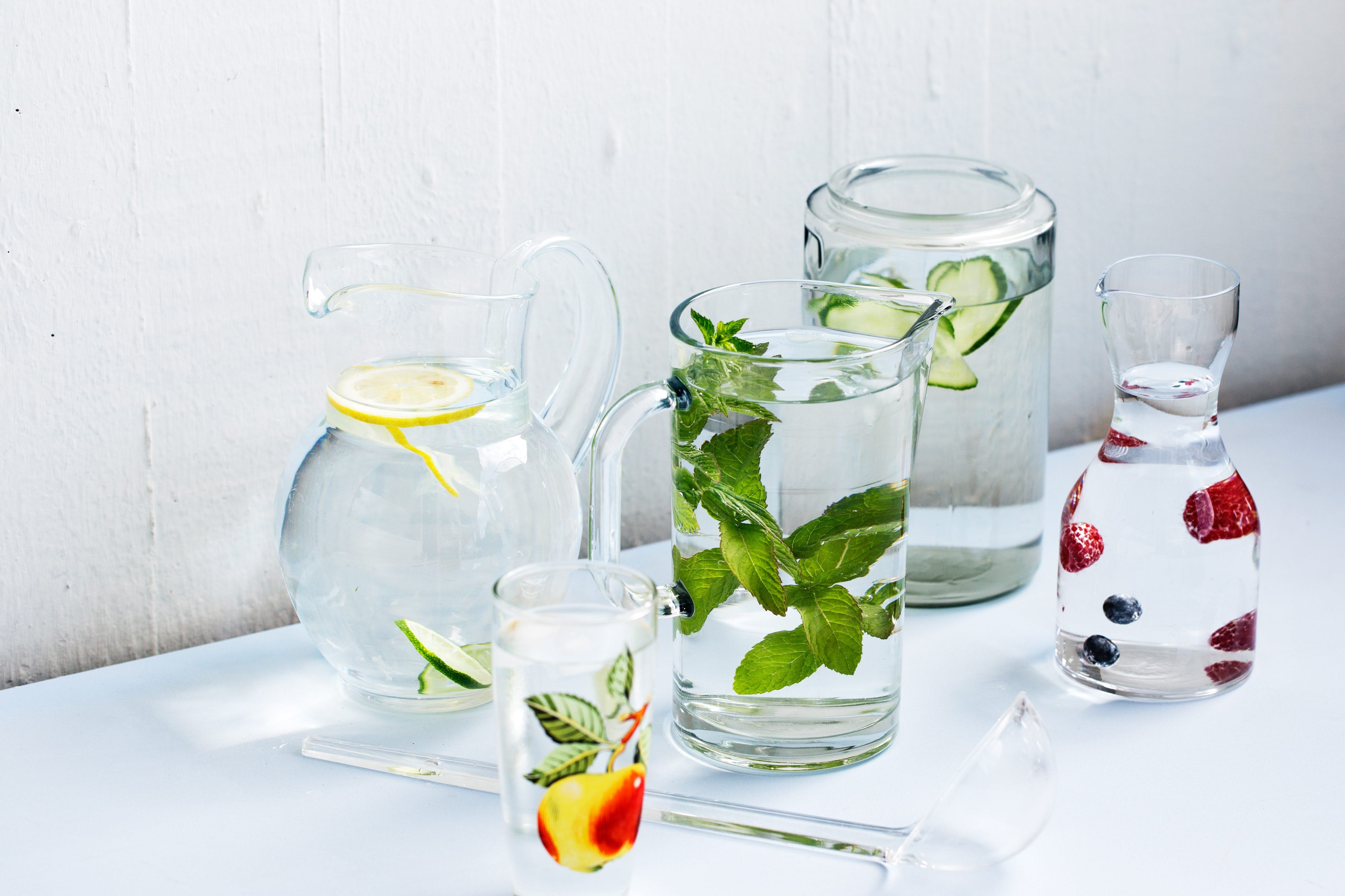 Flavored Water with Fruits, Berries and Herbs