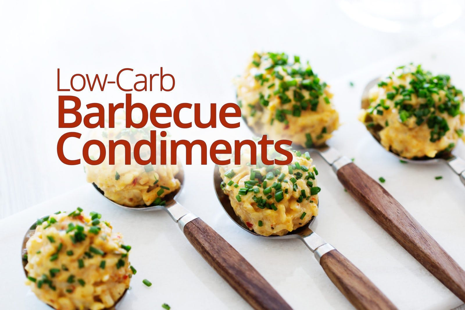 Low-carb barbecue condiments