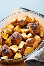烤箱烤的辣椒粉鸡与rutabagagydF4y2Ba