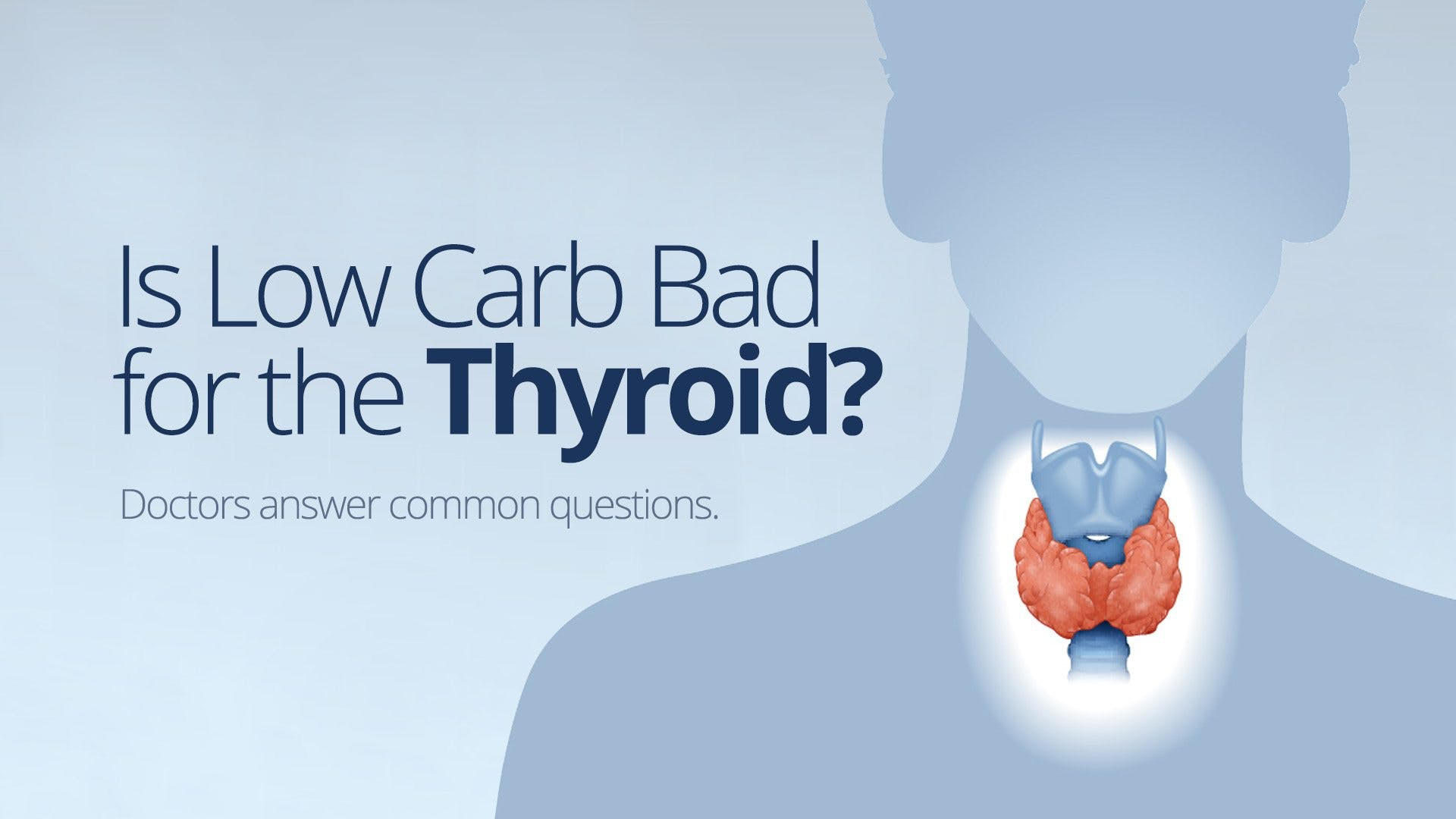 Is low carb bad for the thyroid?