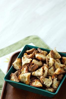 Keto parmesan croutons