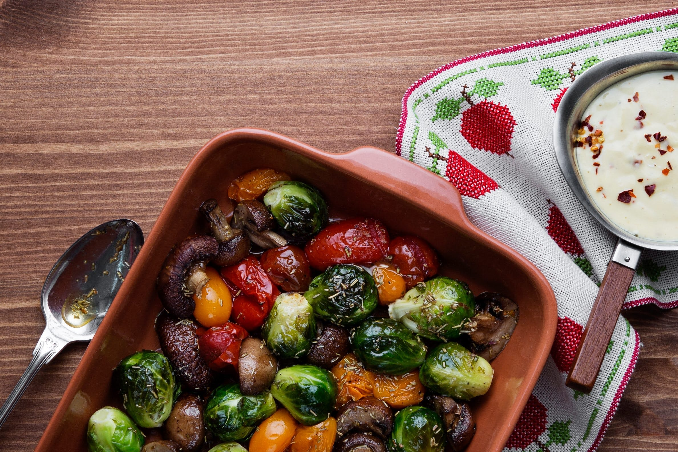 Roasted vegetables Tricolore