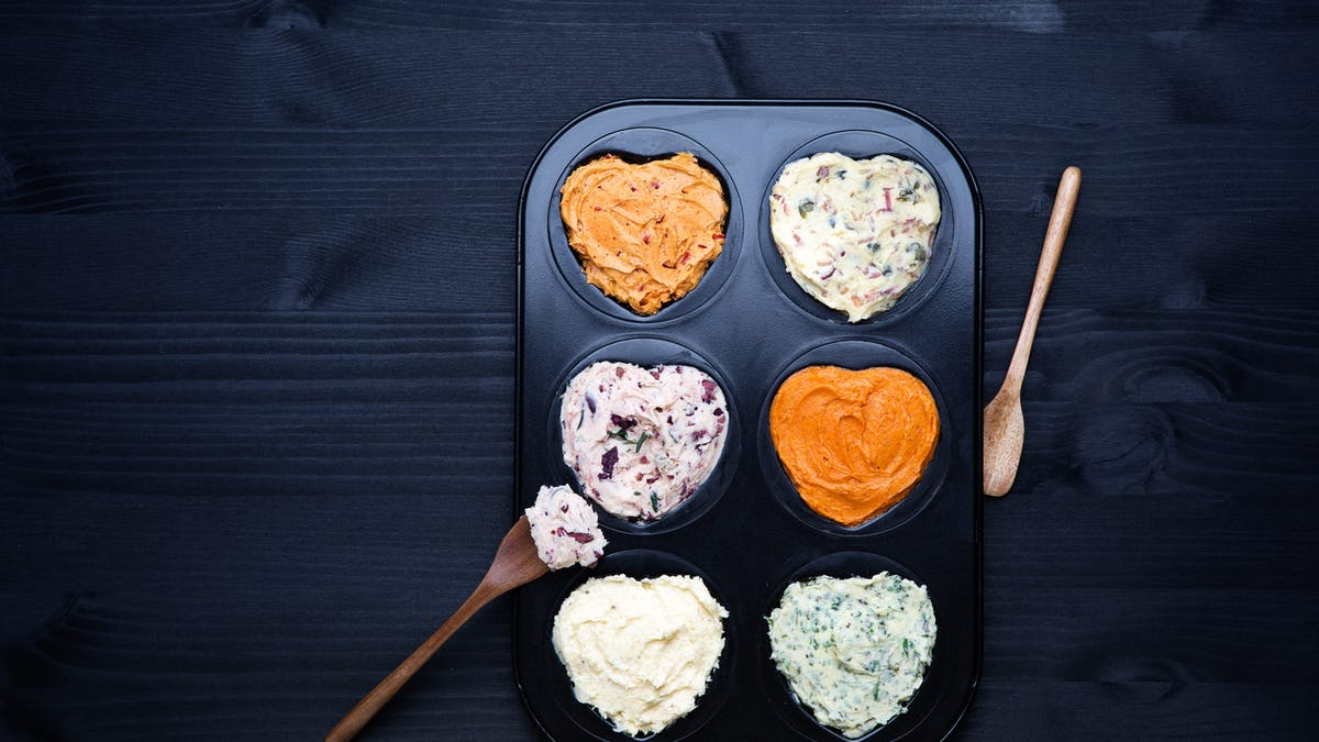 Flavored butter in six different ways