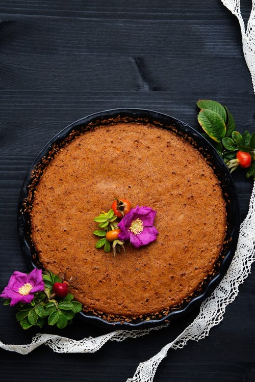 Crustless low-carb pumpkin pie
