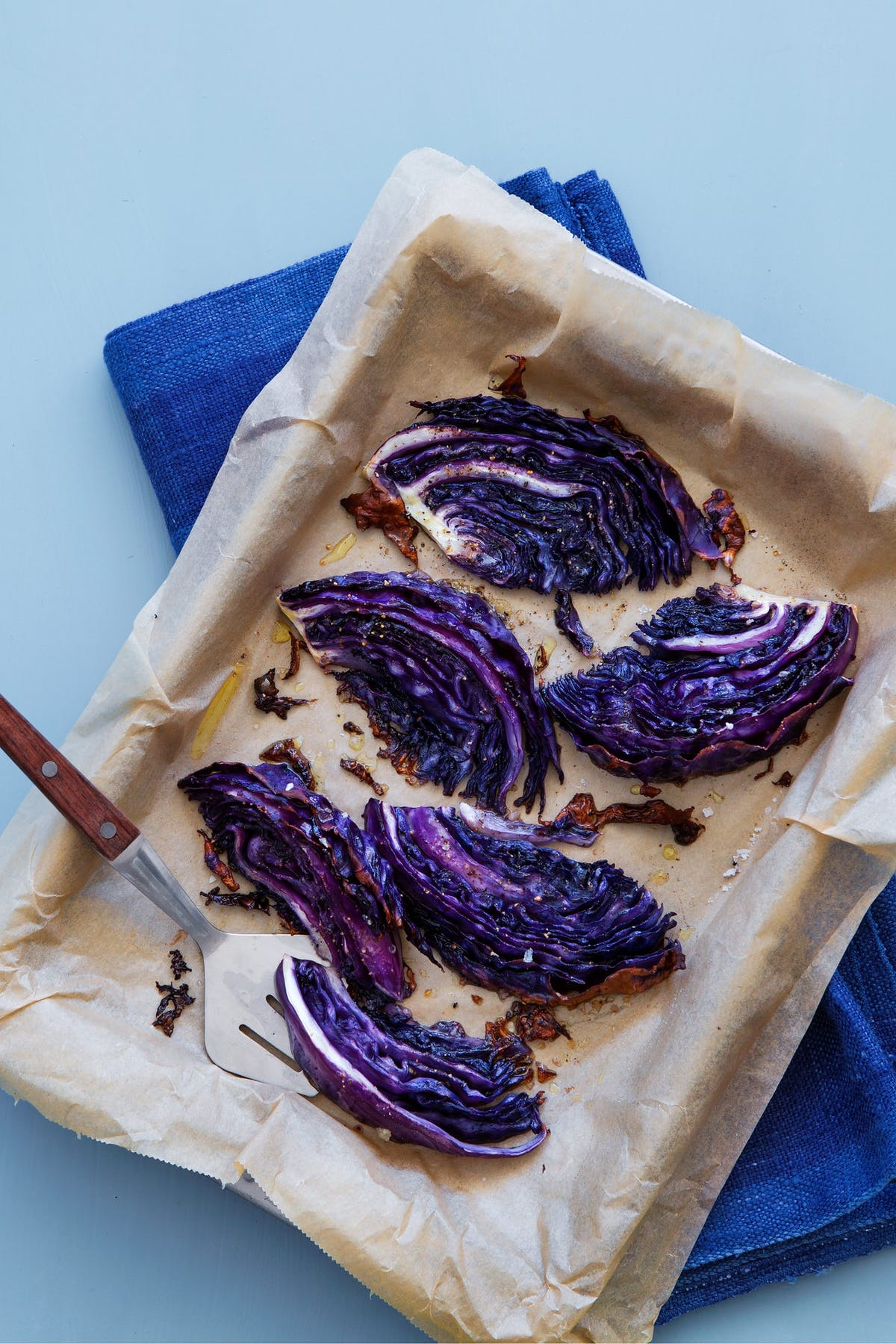 Roasted red cabbage