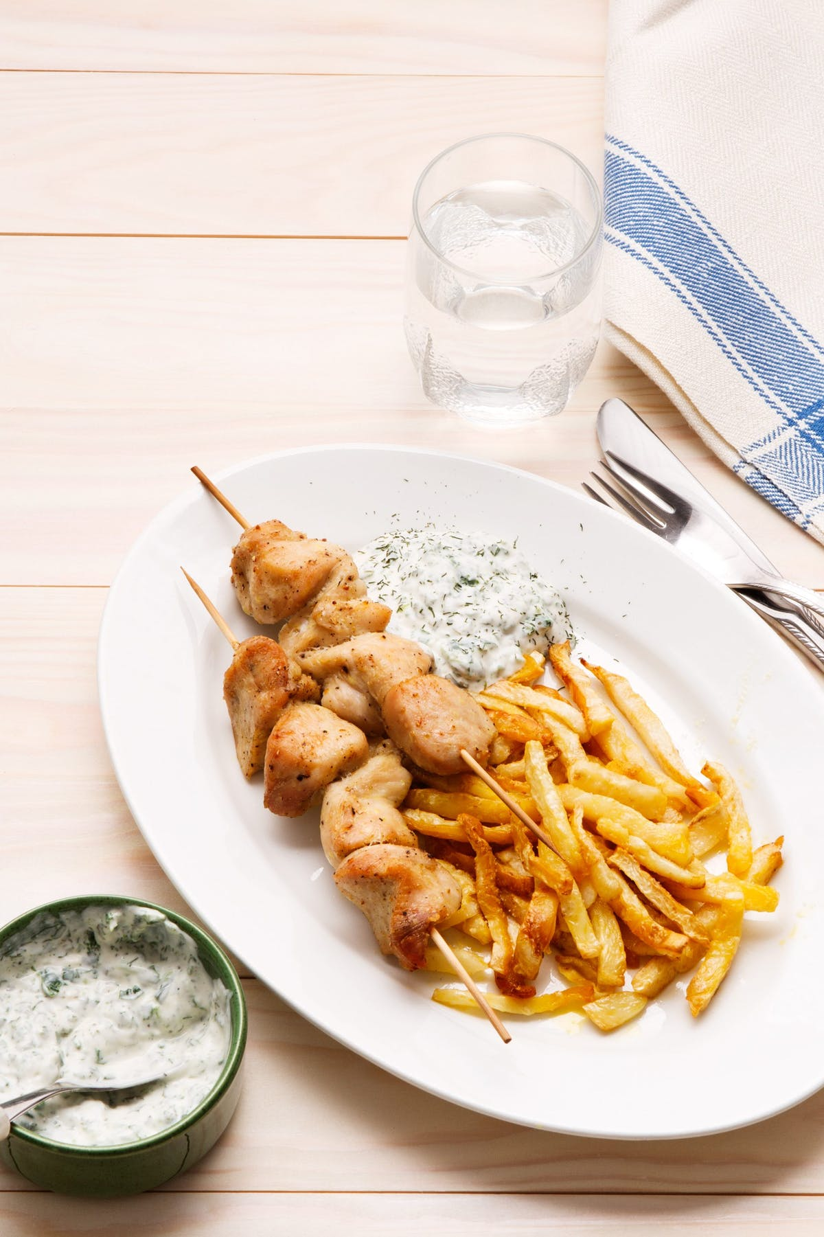 Keto Chicken Skewers With Fries And Dip Recipe Diet Doctor