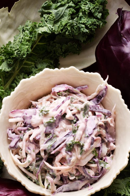 Mixed cabbage coleslaw
