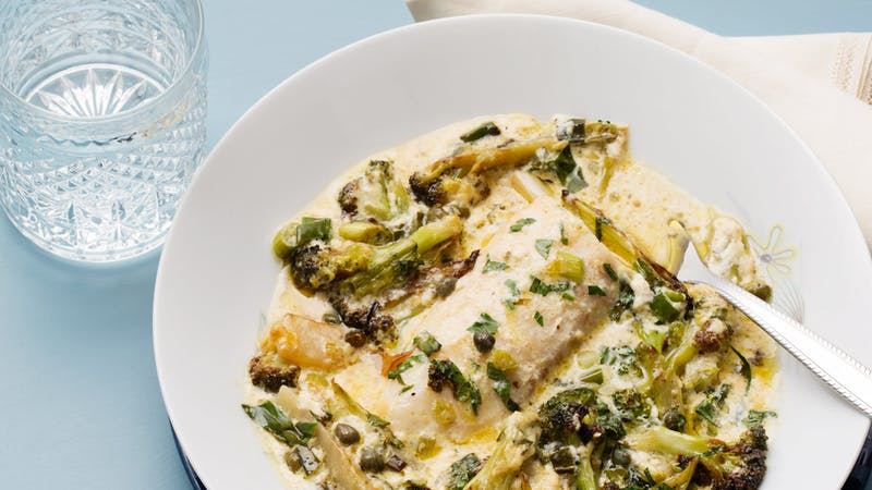 Creamy keto fish casserole
