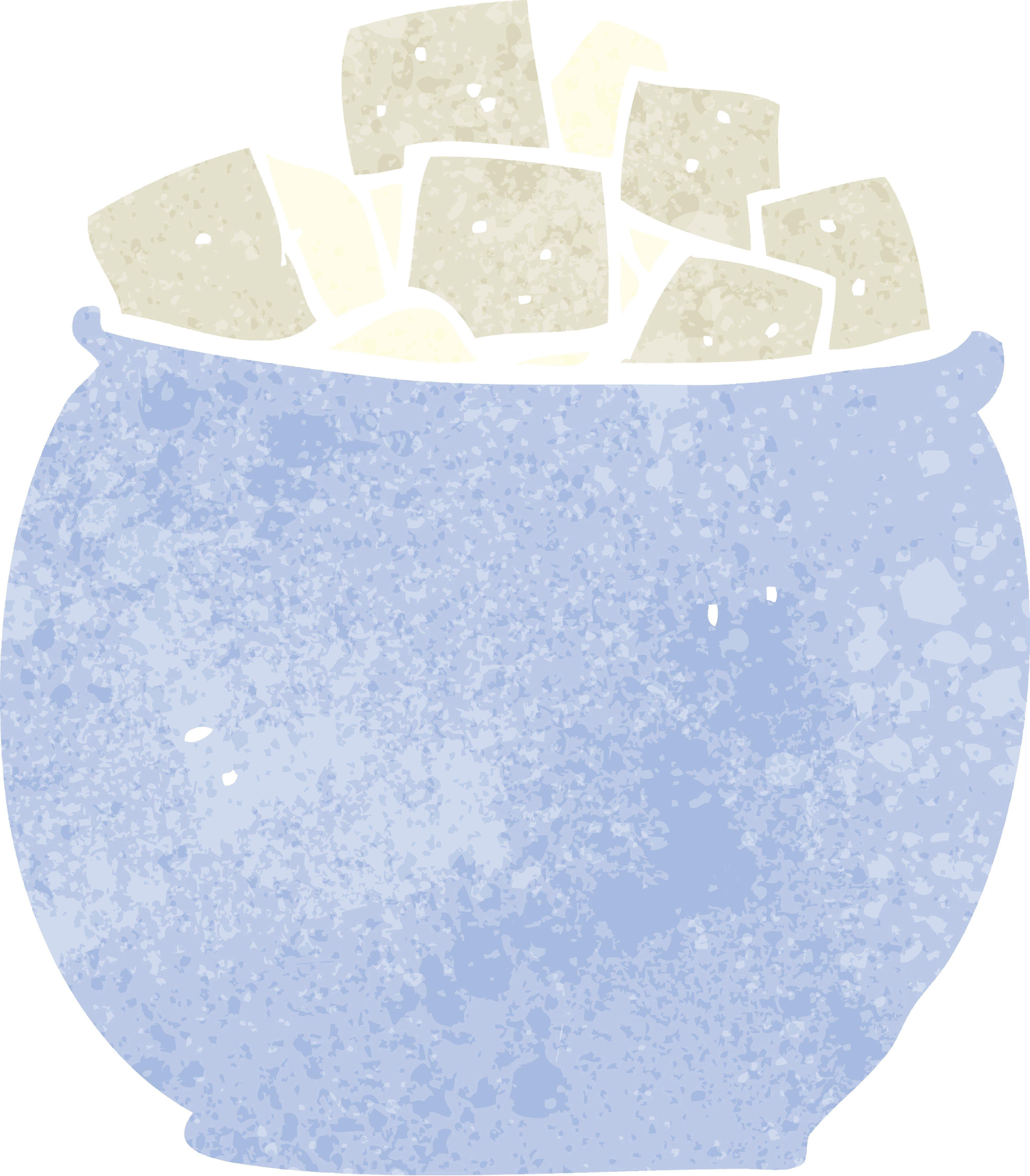 cartoon sugar cubes