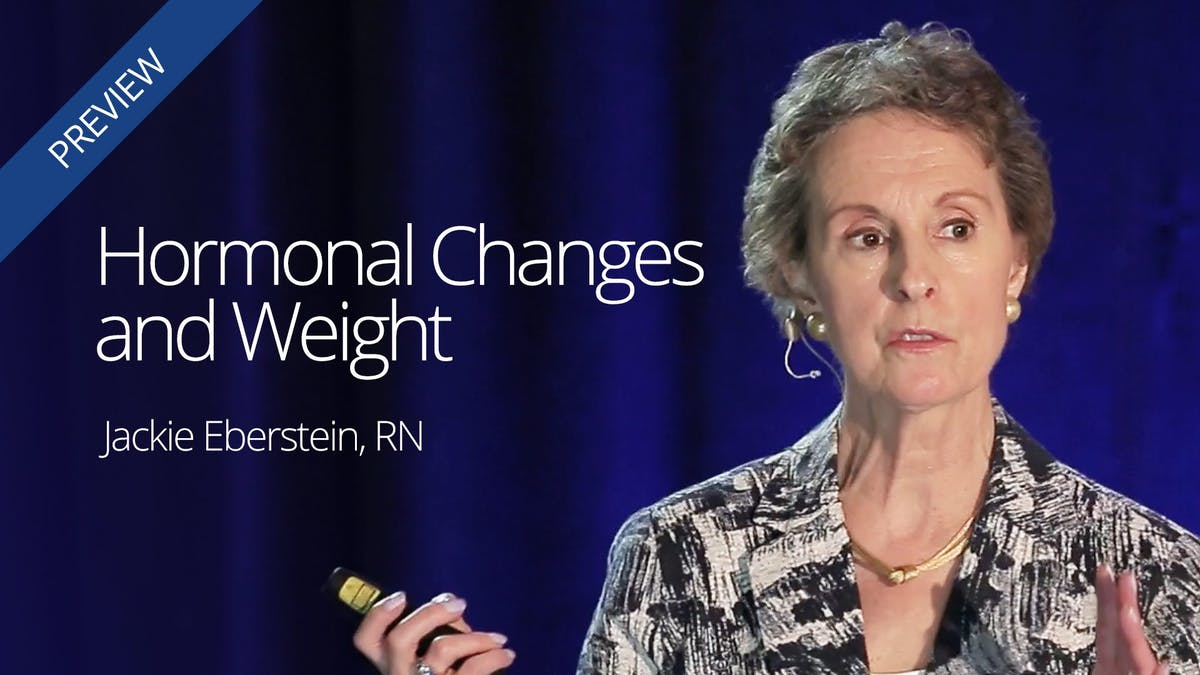 Hormonal changes and weight