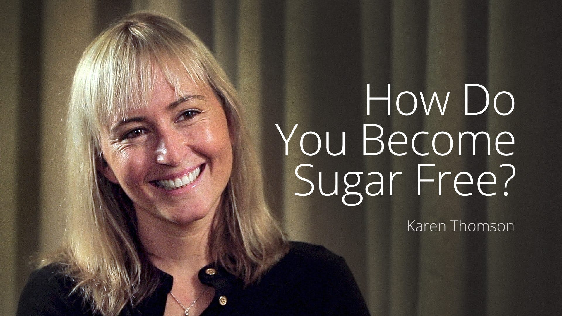 How do you become sugar free?