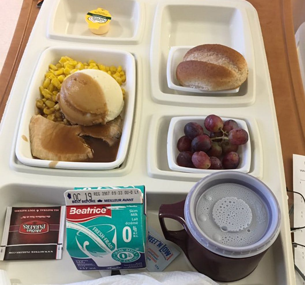 Disaster food for diabetics at a Canadian hospital