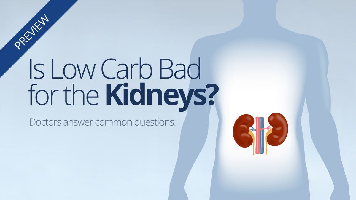 Is low carb bad for your kidneys?